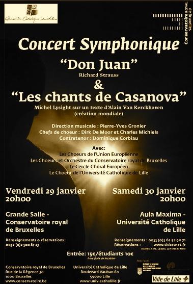 Les Chants de Casanova: Création française