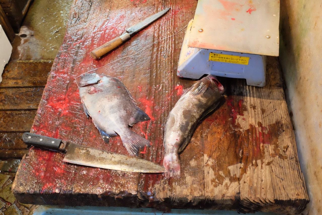 Nature morte au marché Tsukiji