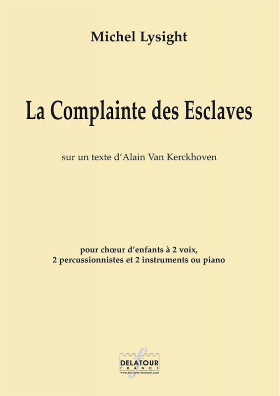 La Complainte des esclaves au catalogue de Delatour