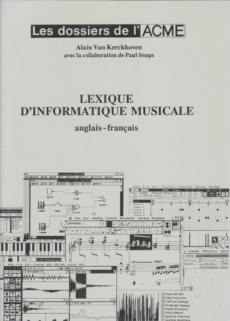 Lexique d'informatique musicale